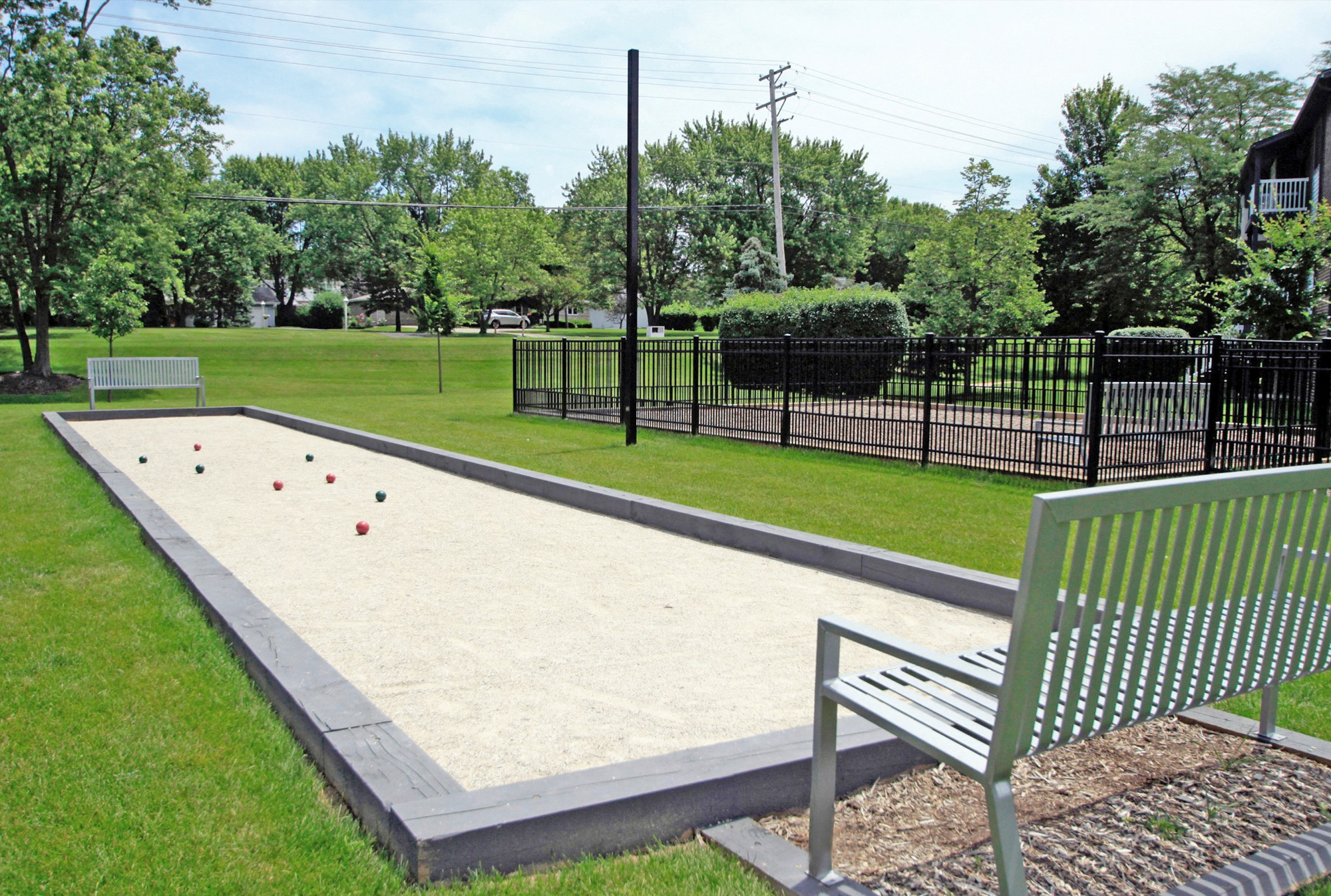 Outdoor Bocce Ball Court at The Clayson, Palatine, IL