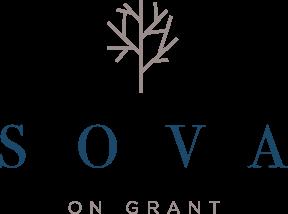 SOVA logo for apartments in denver
