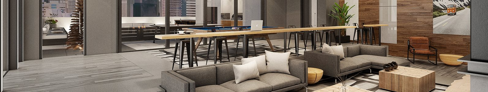 banner image view of luxury community space in apartments