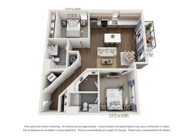Studio 1 2 bedroom apartments in denver sova on grant - Two bedroom apartments in denver ...