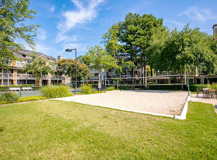 Plant your feet on real sand as you serve the ball at the BeachVolleyball Court at Arbors Harbor Town Apartment Homes, Memphis, TN 38103