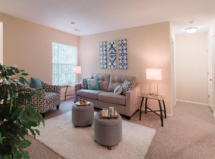 Open Living area with large windows at Sunrise Point in Port Orange, FL