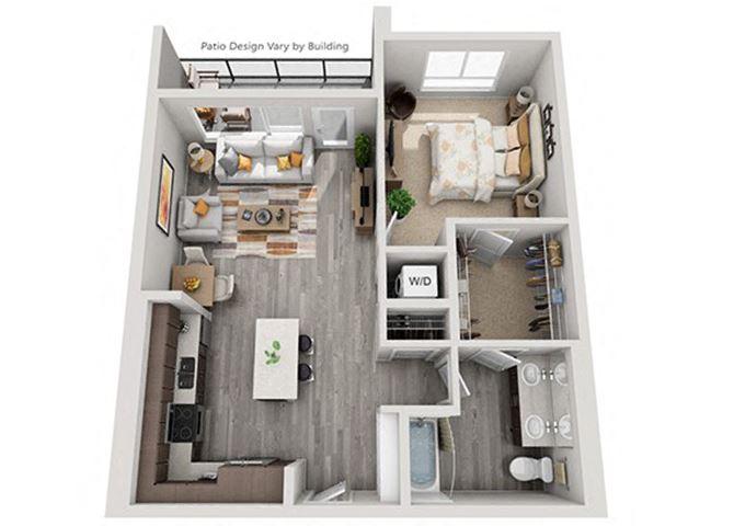 Baseline 158 2D floor plan A10 1 bedroom