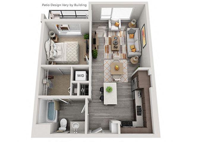 Baseline 158 2D floor plan A3 1 bedroom