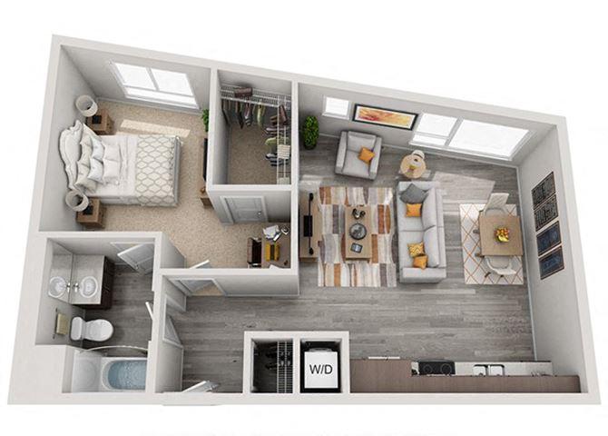 Baseline 158 2D floor plan A7 1 bedroom