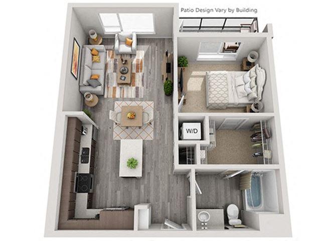 Baseline 158 2D floor plan A8 1 bedroom