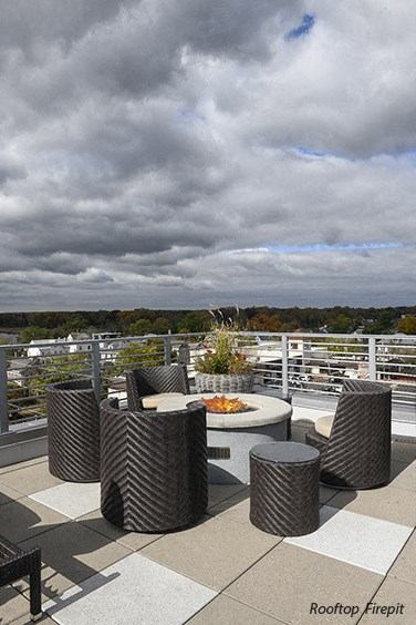 Firepit on Rooftop Lounge