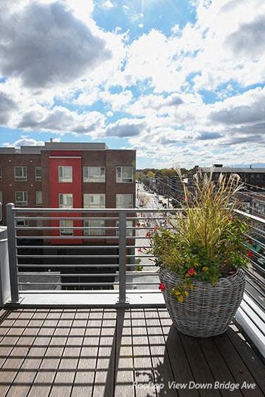 Rooftop View Down Bridge Ave