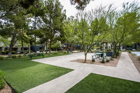 Outdoor barbeque and picnic area