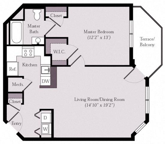 Floor Plans Of Styron Square Apartments In Newport News, VA