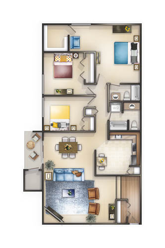 Apartments rockville md the forest apartments - 3 bedroom apartments in rockville md ...