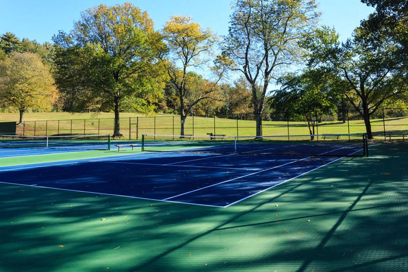 Tennis Courts and Track Adjacent to Community at The Forest, Rockville, Maryland