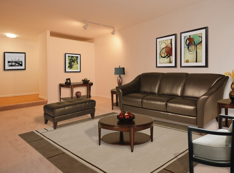 Spacious Living Room At The Forest Apartments in Rockville, MD