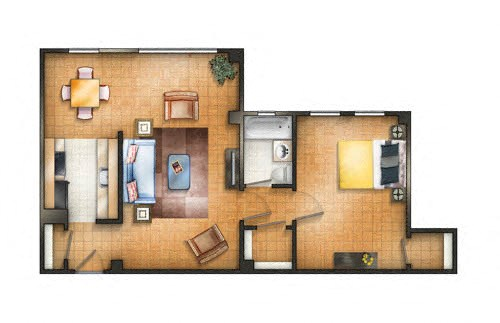 Floor plan at The Chesapeake, Washington, DC