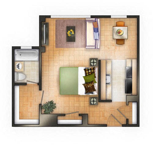 Floor plan at The Chesapeake, Washington, DC 20008