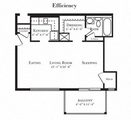 Floor plan at Tuscarora Creek, Virginia