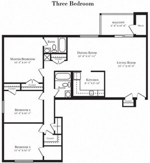 Floor plan at Tuscarora Creek, Leesburg, VA, 20175