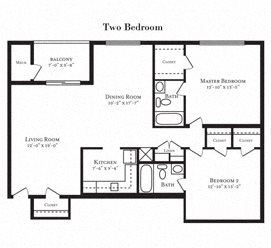 Floor plan at Tuscarora Creek, Leesburg