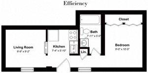 Floor plan at Park Georgetown, VA, 22209