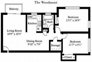 Floor plan at Park Georgetown, Arlington, 22209