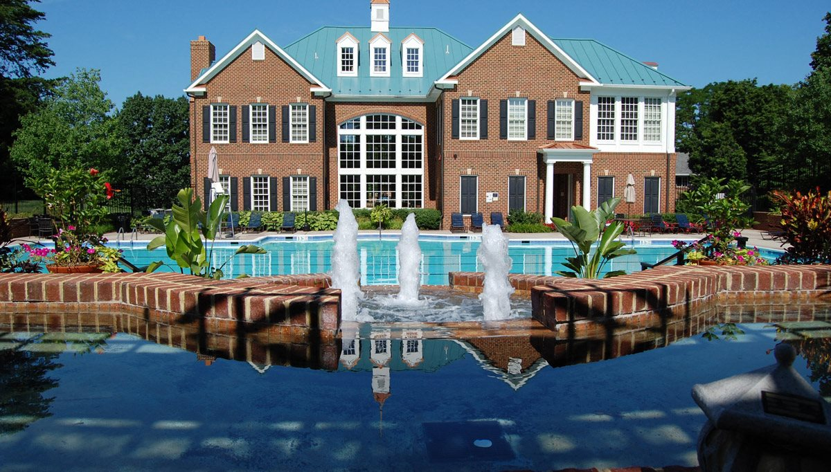 Beautiful Fountain at Fairfax Square, Fairfax, Virginia
