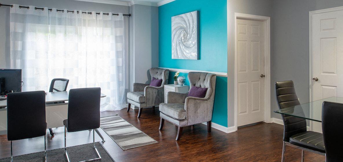 Bright Living Room at Barrington Park