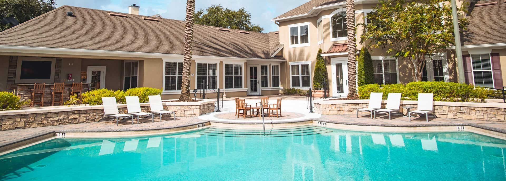 Poolside views at Northlake Park in Orlando, FL