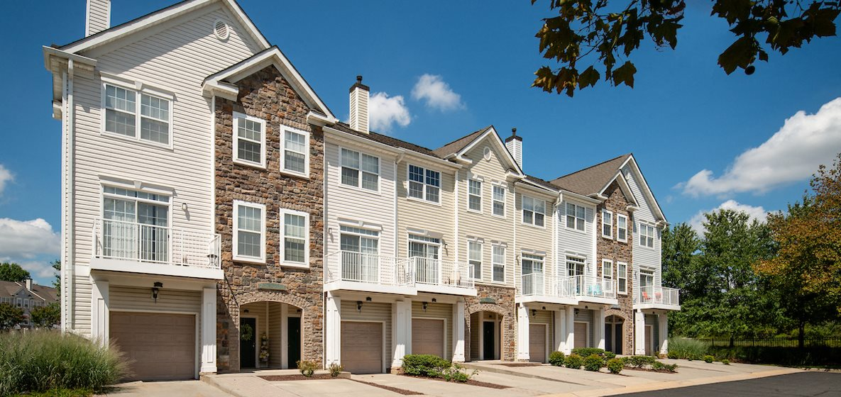 Building Exterior with Architectural Details at Broadlands, Ashburn, VA