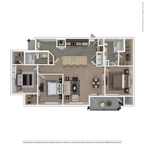 Condor Floor Plan at 9910 Sawyer Apartment Homes in Louisville, Kentucky, KY