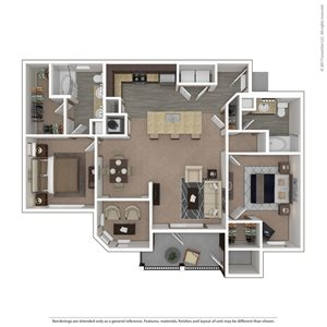 Falcon Floor Plan at 9910 Sawyer Apartment Homes in Louisville, Kentucky, KY