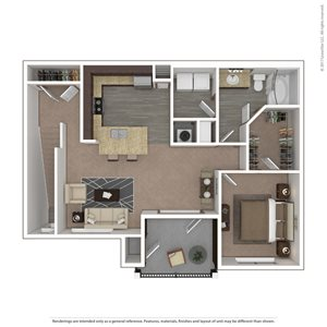 Harrier Floor Plan at 9910 Sawyer Apartment Homes in Louisville, Kentucky, KY