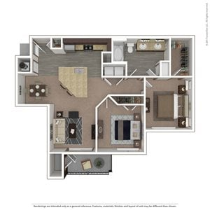 Osprey Floor Plan  at 9910 Sawyer Apartment Homes in Louisville, Kentucky, KY