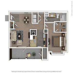 Shrike Floor Plan at 9910 Sawyer Apartment Homes in Louisville, Kentucky, KY