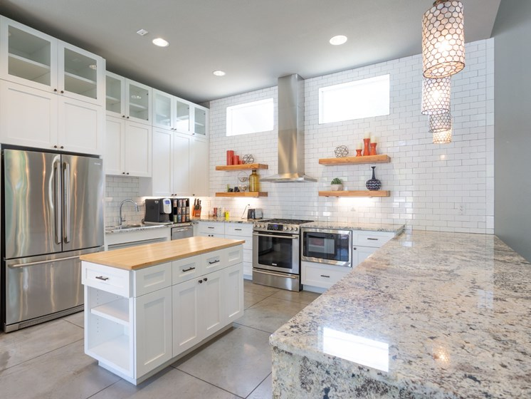 apartments near the domain austin tx kitchen with granite countertops
