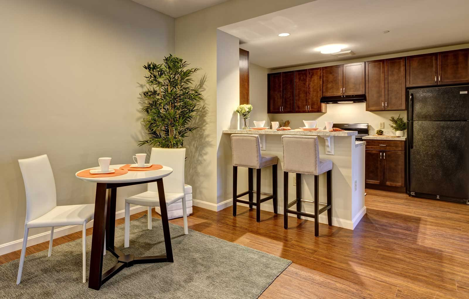 Apartments feature modern design