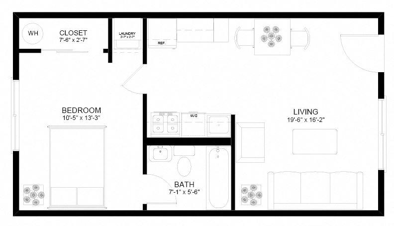 Holgate Lofts One Bedroom Floor Plan