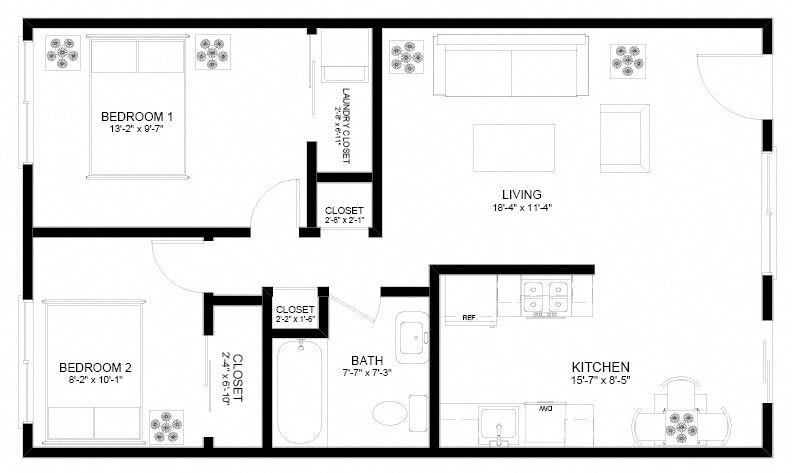 Holgate Lofts Two Bedroom Floor Plan