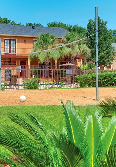 Sand Volleyball Court at Villages of Williamsburg Apartments in Shreveport, Louisiana, LA
