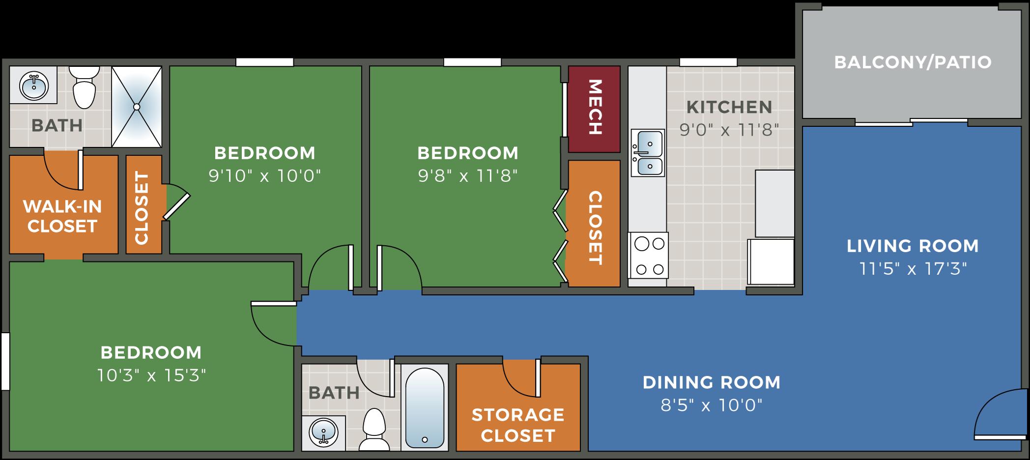 11, 11 & 11 Bedroom Apartments Hethwood Apartments