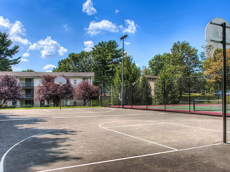 Three Basketball Courts at Hethwood Apartment Homes, Blacksburg
