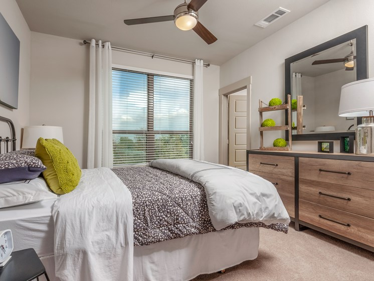 Ceiling fans in all bedrooms to keep you cool and energy efficient