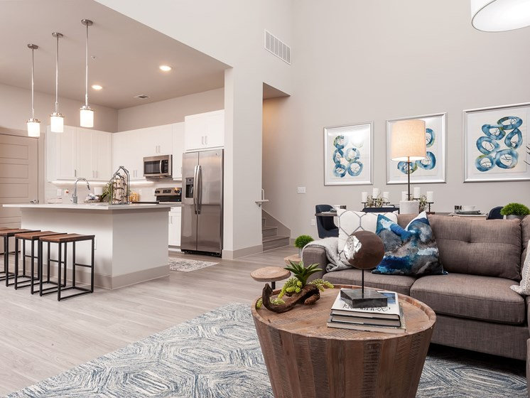 Live/work style and townhome floorplans available
