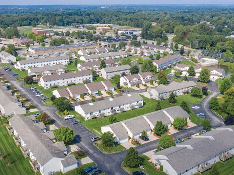 Townhomes in Kentwood Aerial