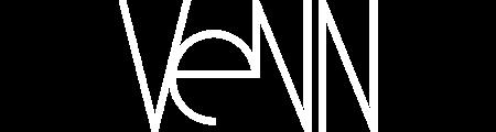 Venn logo white for apartment rentals in sf