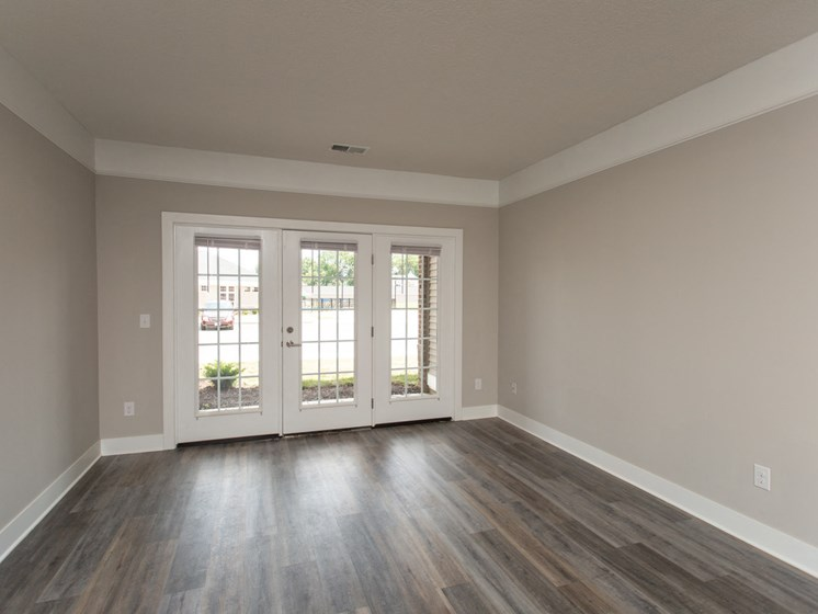 The Ervin Living Room with Gorgeous French Doors!