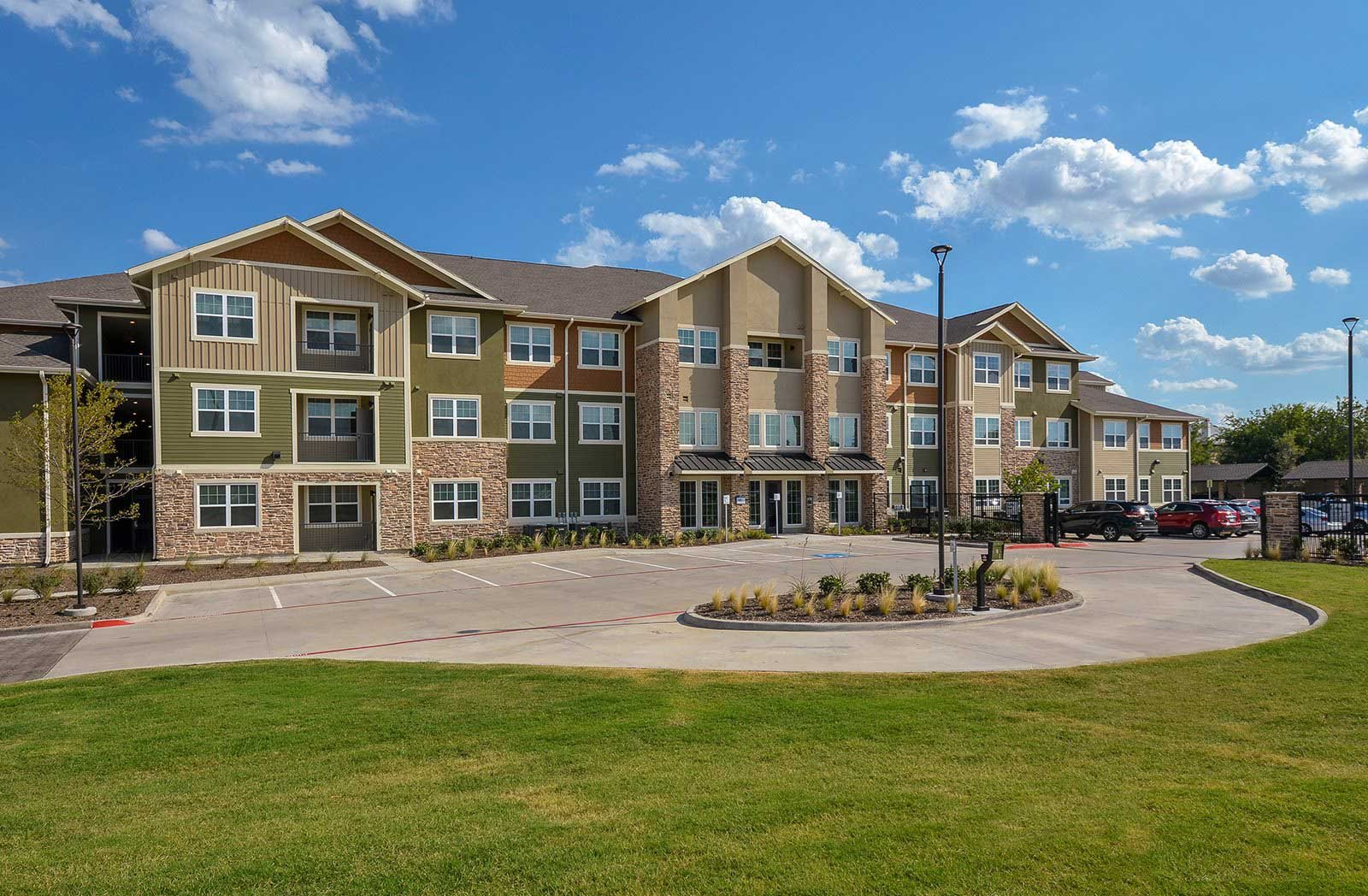 Apartment Entrance at The Elliott Senior Apartments, Texas, 76002