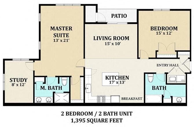 2 bedroom 2 bathroom