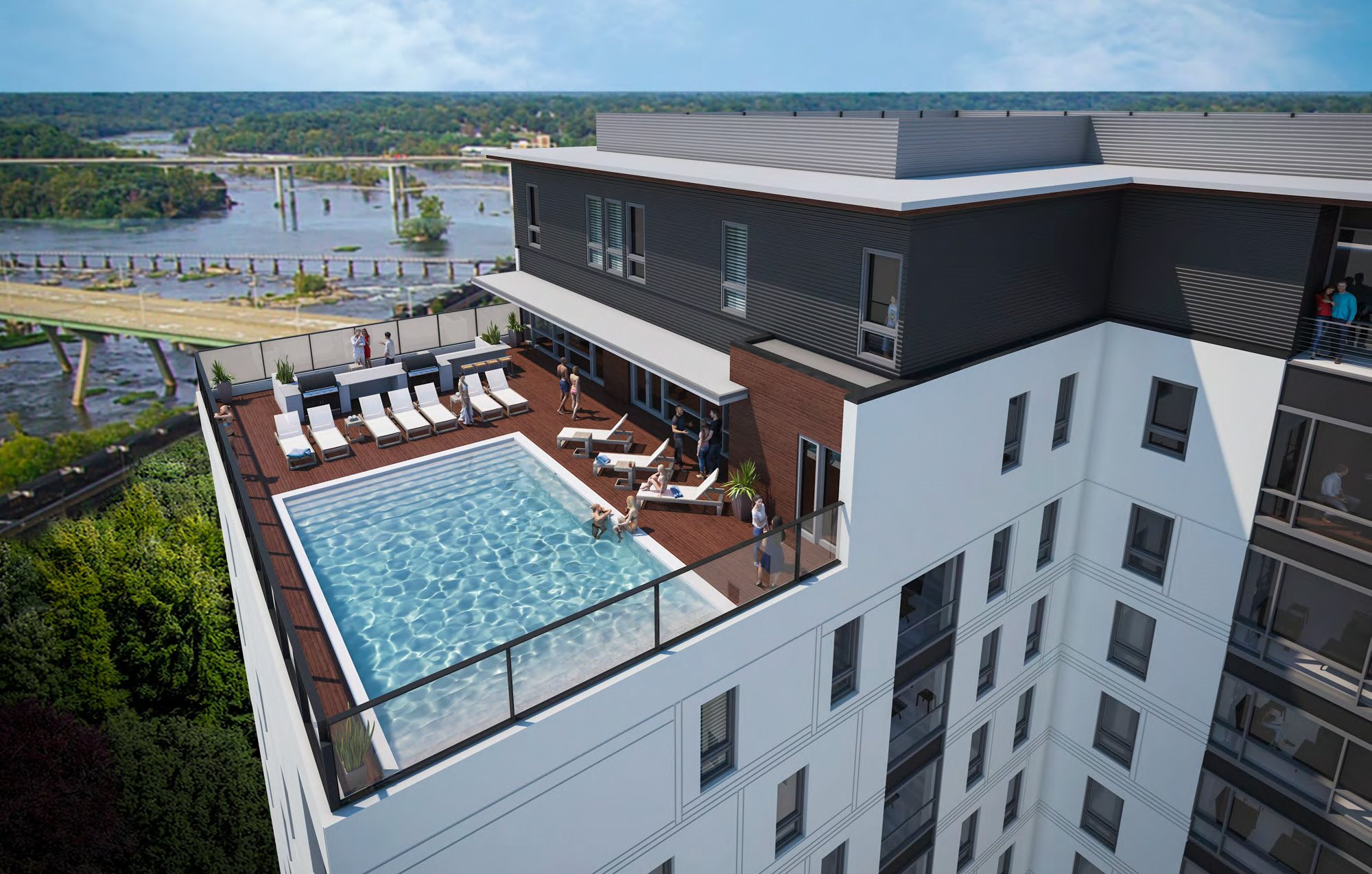 The Locks Tower's rooftop pool