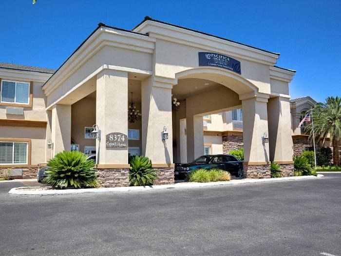 Exterior view of our community building at Pacifica Senior Living San Martin