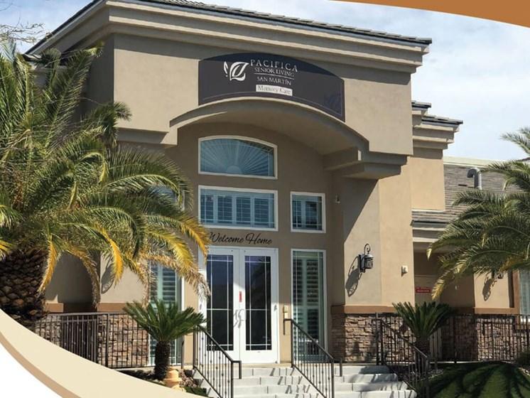 Entrance at Legacies Memory Care at San Martin